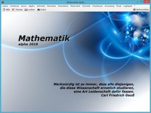 Screenshot Mathematik alpha